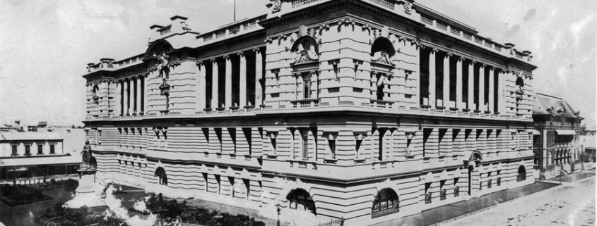 The Executive Building with the Executive Gardens, circa 1910. SLQ image 17172.